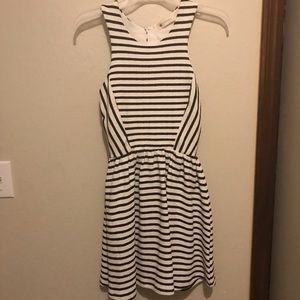 The impeccable pig striped fit and flare dress